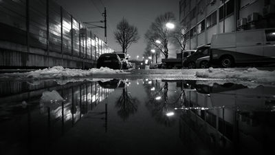 Night Reflections BW Smartphone